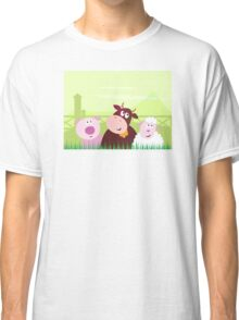 Farm animals - Pig, Cow and Sheep Classic T-Shirt
