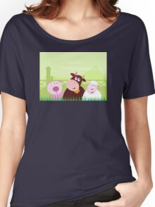 Farm animals - Pig, Cow and Sheep Women's Relaxed Fit T-Shirt