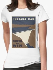Vintage poster - Fontana Dam Womens Fitted T-Shirt