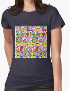 Candy Collage Womens Fitted T-Shirt