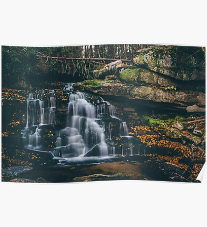 Surreal Waterfall - West Virginia   Poster