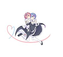Re:ZERO Starting Life In Another World (Rem and Ram) Photographic Print