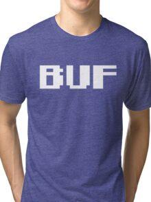 Tecmo Bowl Buffalo Bills Football 8-Bit NES Nintendo Pixel Type Shirt T-shirt Tri-blend T-Shirt