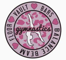 Pink Gymnastics Logo Kids Tee