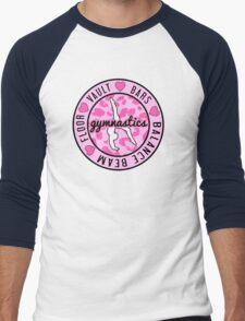 Pink Gymnastics Logo Men's Baseball ¾ T-Shirt