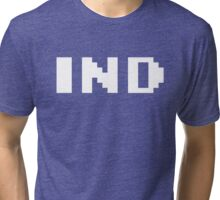 Tecmo Bowl Indianapolis Colts Football 8-Bit NES Nintendo Pixel Type Shirt T-shirt Tri-blend T-Shirt