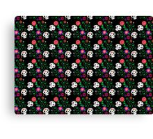 black Sugar Skull Canvas Print
