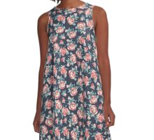 Red Roses A-Line Dress