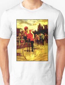 BICYCLE RACING; Vintage Womens Grand Prix Print Unisex T-Shirt