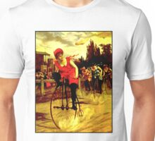 BICYCLE RACING; Vintage Womens Grand Prix Print Unisex T-Shirt