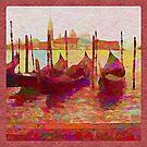 Venice Gondolas Abstracted by Dana Roper