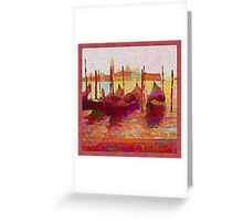 Venice Gondolas Abstracted Greeting Card