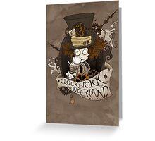 The Mad Hatter - Clockwork Wonderland Greeting Card