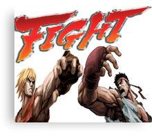 Ken Vs. Ryu - Fight Canvas Print