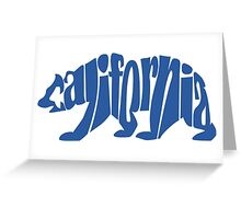 Blue California Bear Greeting Card
