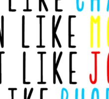 Live Like Friends Sticker