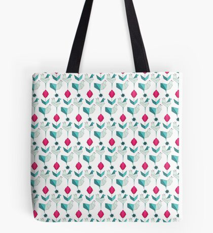 Origami Garden Chickens Tote Bag