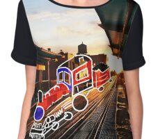 A Train to Morgan Chiffon Top