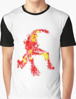 Man in Steal Armor Graphic T-Shirt