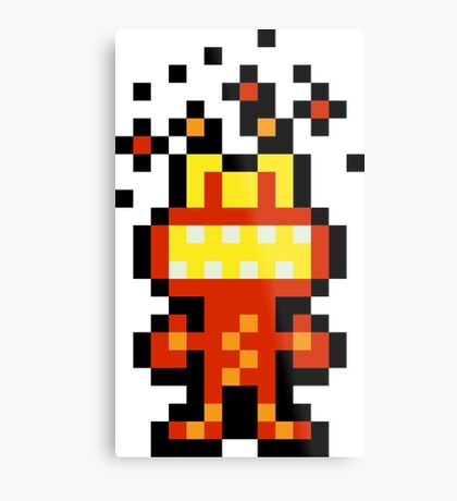 Pixel 'Splosion Man Metal Print