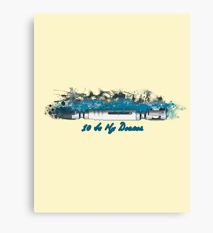 10 is My Doctor - Doctor Who Canvas Print
