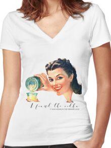 I found the vodka Women's Fitted V-Neck T-Shirt