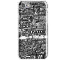 Bright Dark Alley, on A Cold Winter's Night iPhone Case/Skin