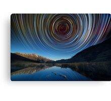 Queenstown star trails reflection Canvas Print