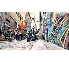 Street art taking shape, Hosier Lane, Melbourne Photographic Print