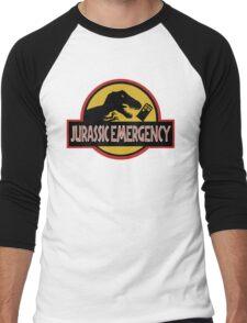 Jurassic Emergency Men's Baseball ¾ T-Shirt