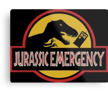 Jurassic Emergency Metal Print
