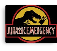 Jurassic Emergency Canvas Print