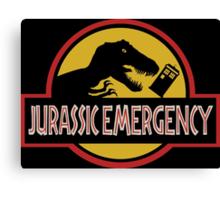 Jurassic Emergency Canvas Print