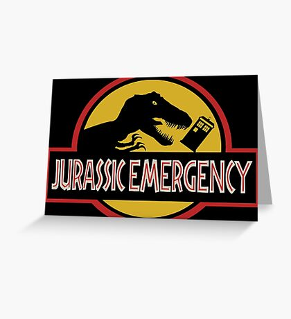Jurassic Emergency Greeting Card