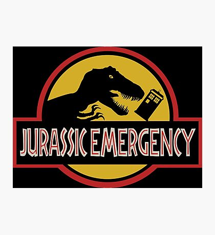 Jurassic Emergency Photographic Print