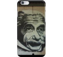 Albert on the wall iPhone Case/Skin