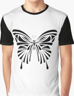 Tribal Butterfly Graphic T-Shirt