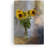 Five Sunflowers Canvas Print