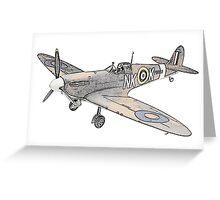 Submarine Spitfire Aircraft Greeting Card