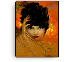 FLAPPER BEAUTY: Vintage Painting Print Canvas Print
