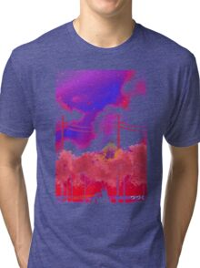 Under the Sakura petals Tri-blend T-Shirt