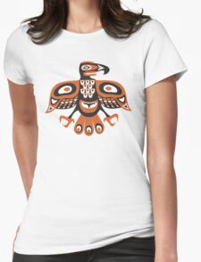 Bird - totem pole style Womens Fitted T-Shirt