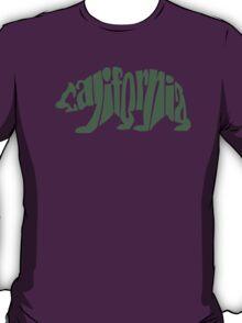 Green California Bear T-Shirt