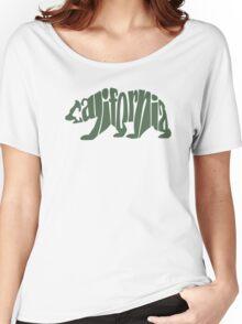 Green California Bear Women's Relaxed Fit T-Shirt