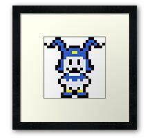 Pixel Jack Frost Framed Print