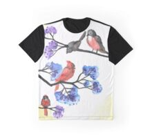 Red Birds and Crepe Myrtles Graphic T-Shirt