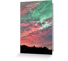 White Galaxy Aesthetic Clouds Greeting Card