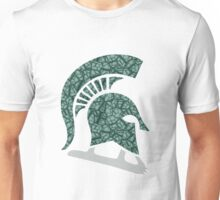 MSU Iconic Logo in Geometric Pattern Unisex T-Shirt