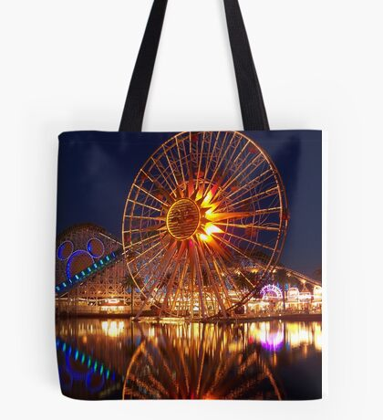 California Adventure at night Tote Bag
