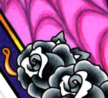 Vacancy - Empty Casket - Tattoo Style Coffin with Roses Sticker